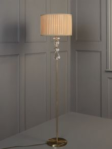 Clarence crystal floor lamp - champagne