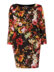 Mary Portas Noir floral occasion dress