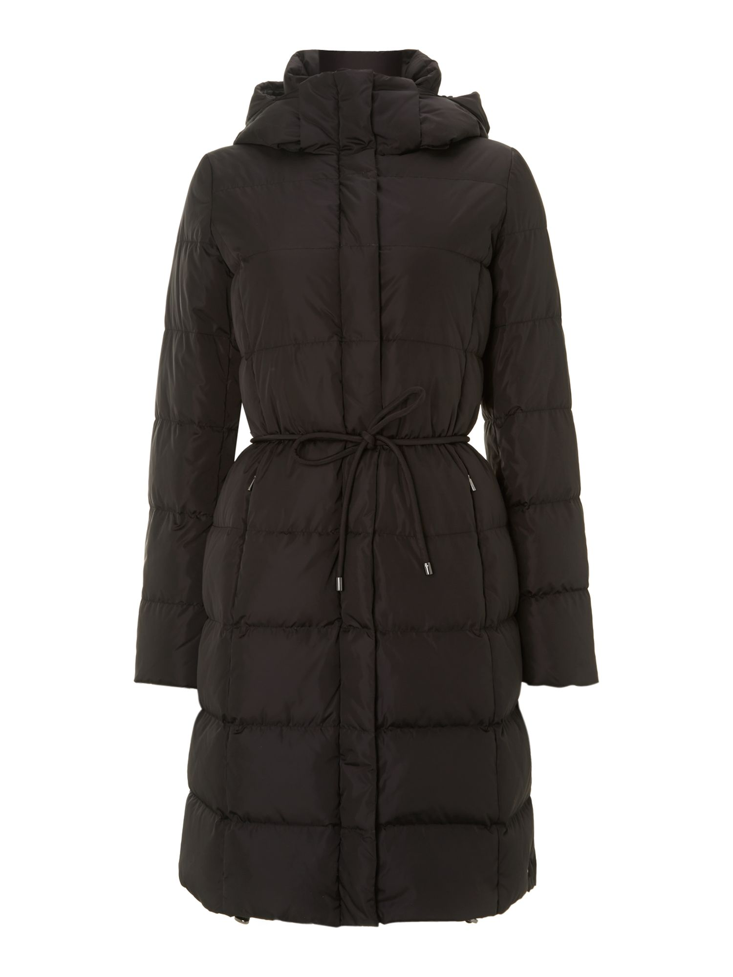 Zirlo long quilted coat with belt