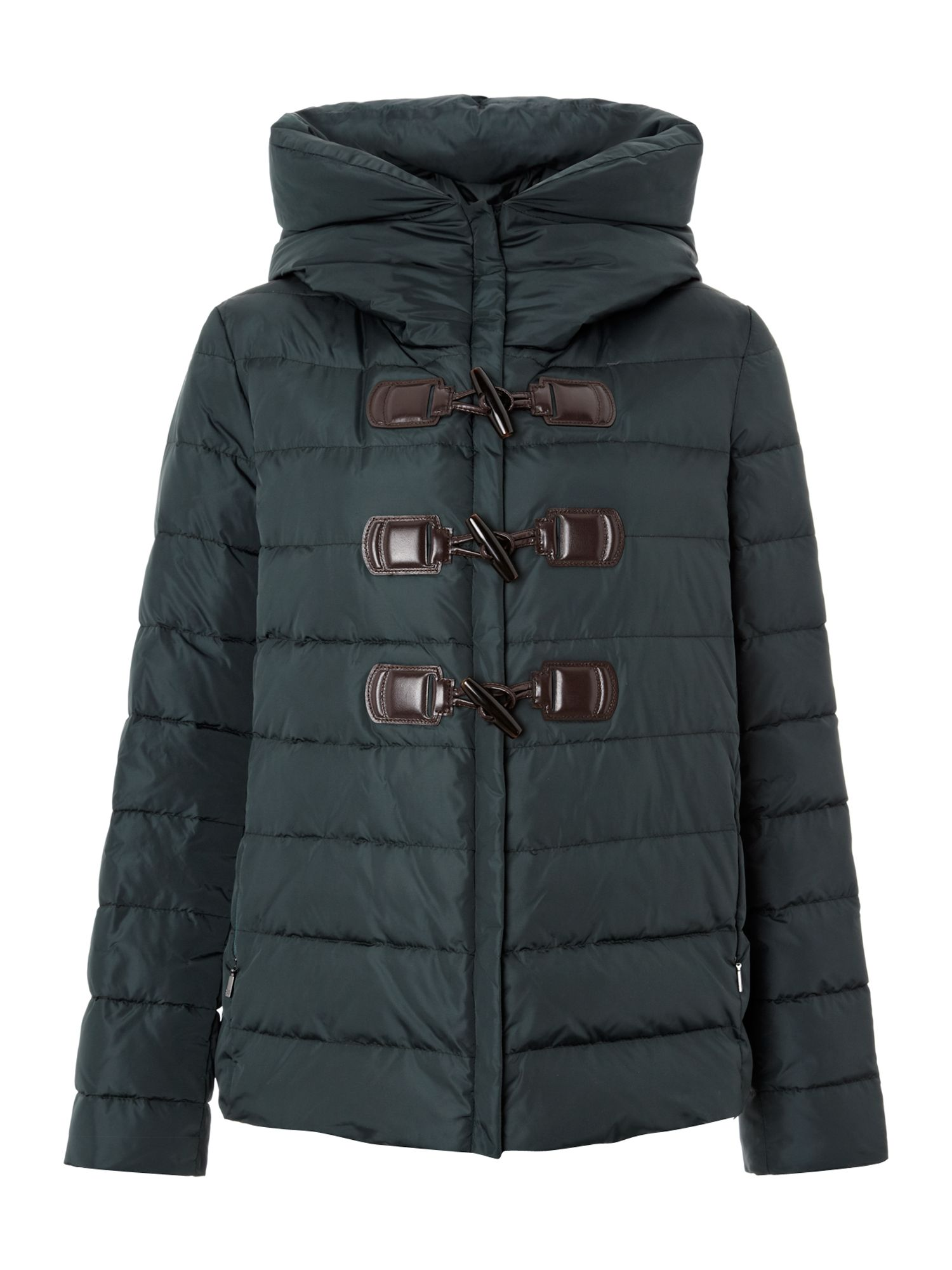 Luppolo quilted coat with hood