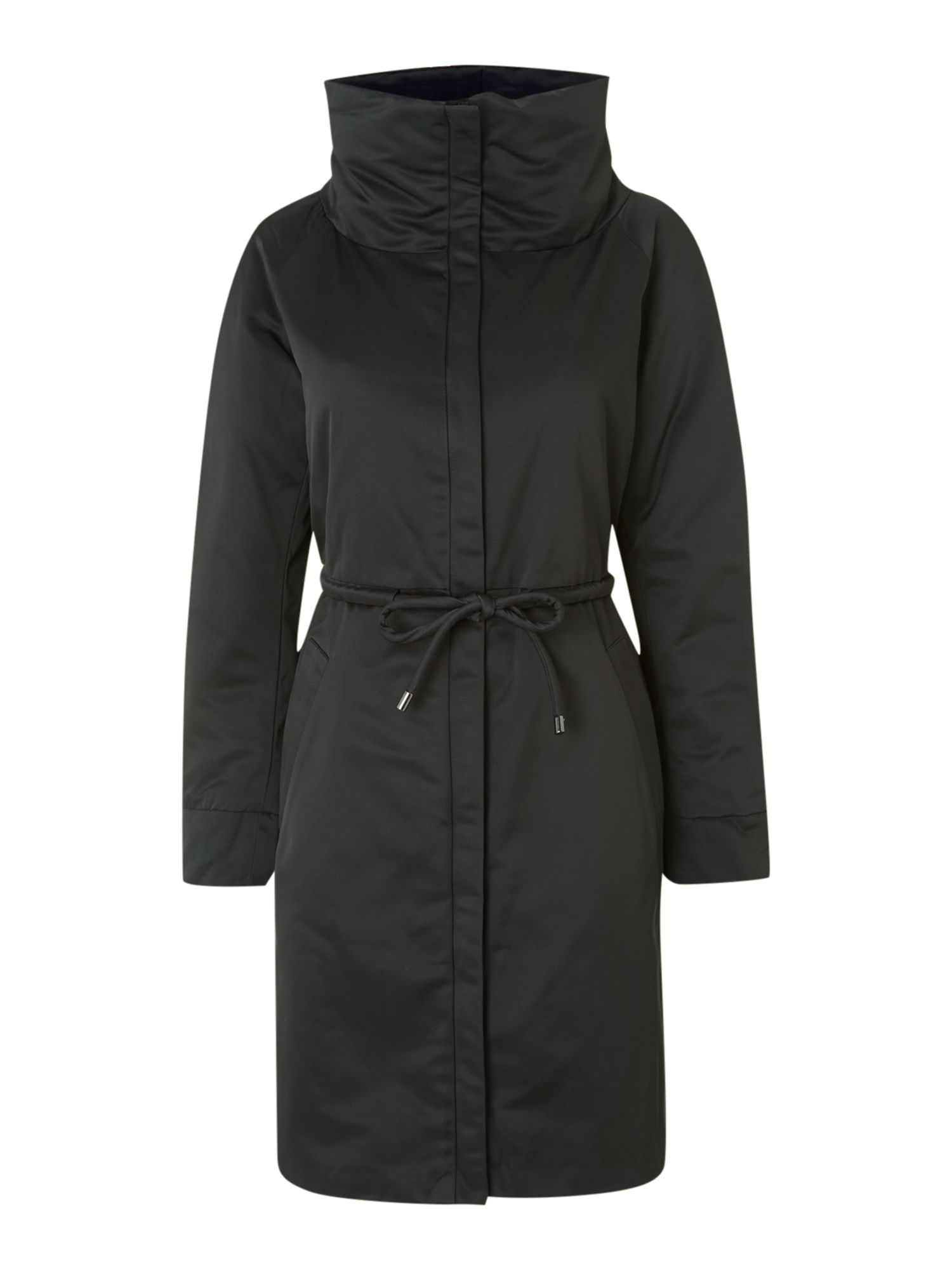 Voghera padded funnel neck coat