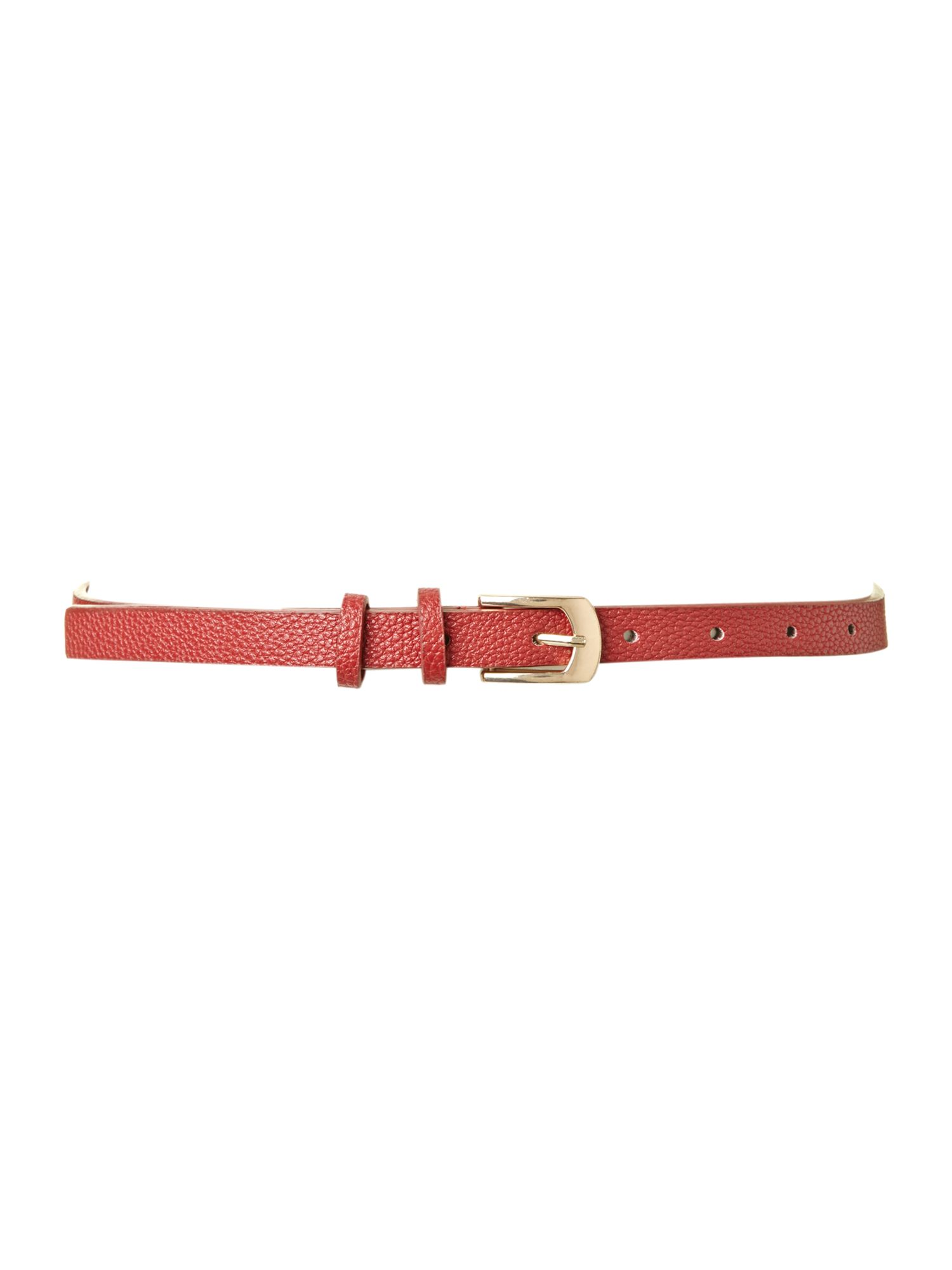 Simple skinny trouser belt