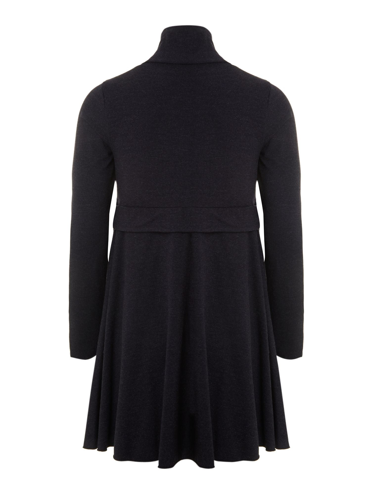 Girl`s long-sleeved turtle-neck dress