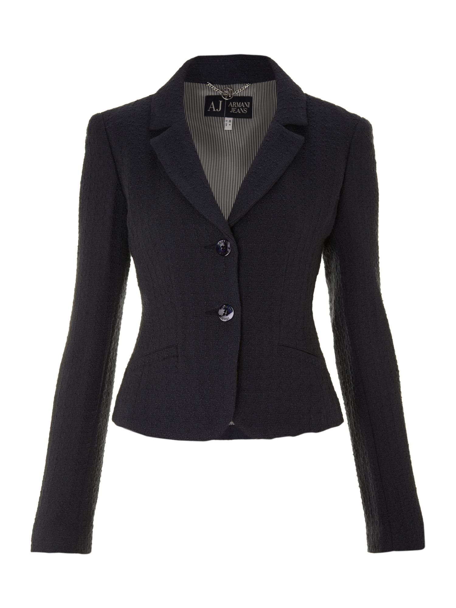 Long sleeve two button blazer