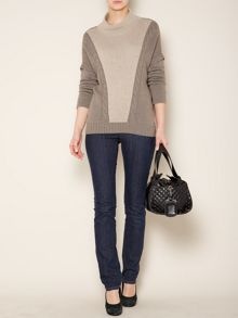 Uberta cable knit detail jumper