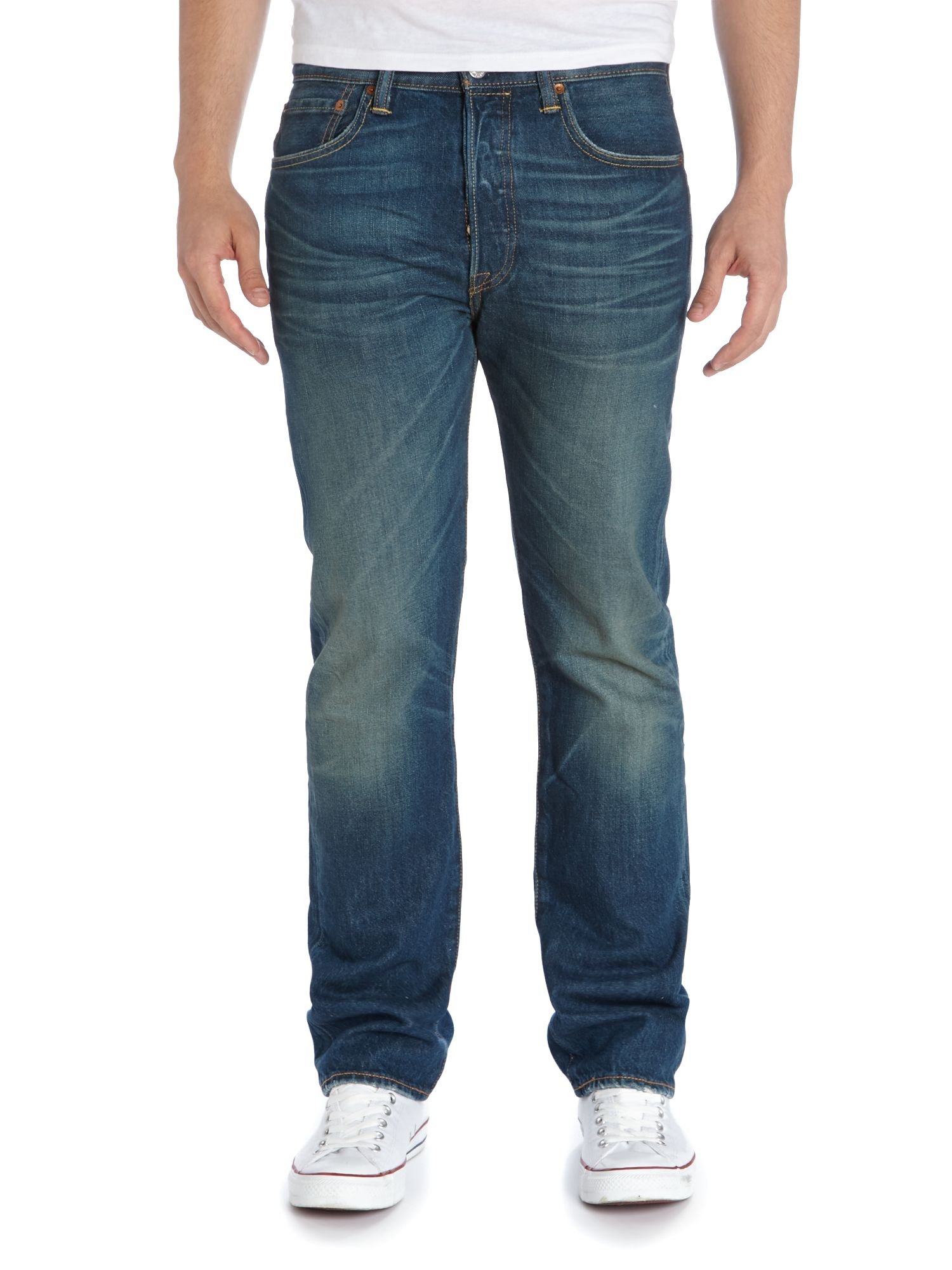 501 straight fit basic blues jeans