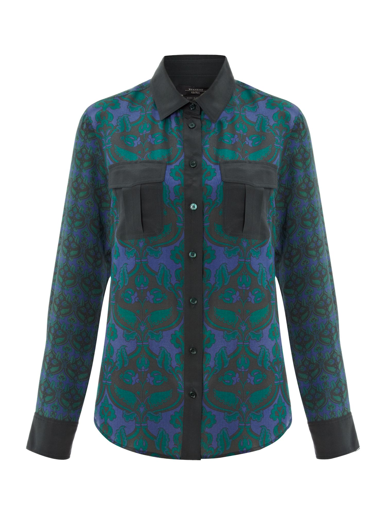 Freccia printed silk blouse
