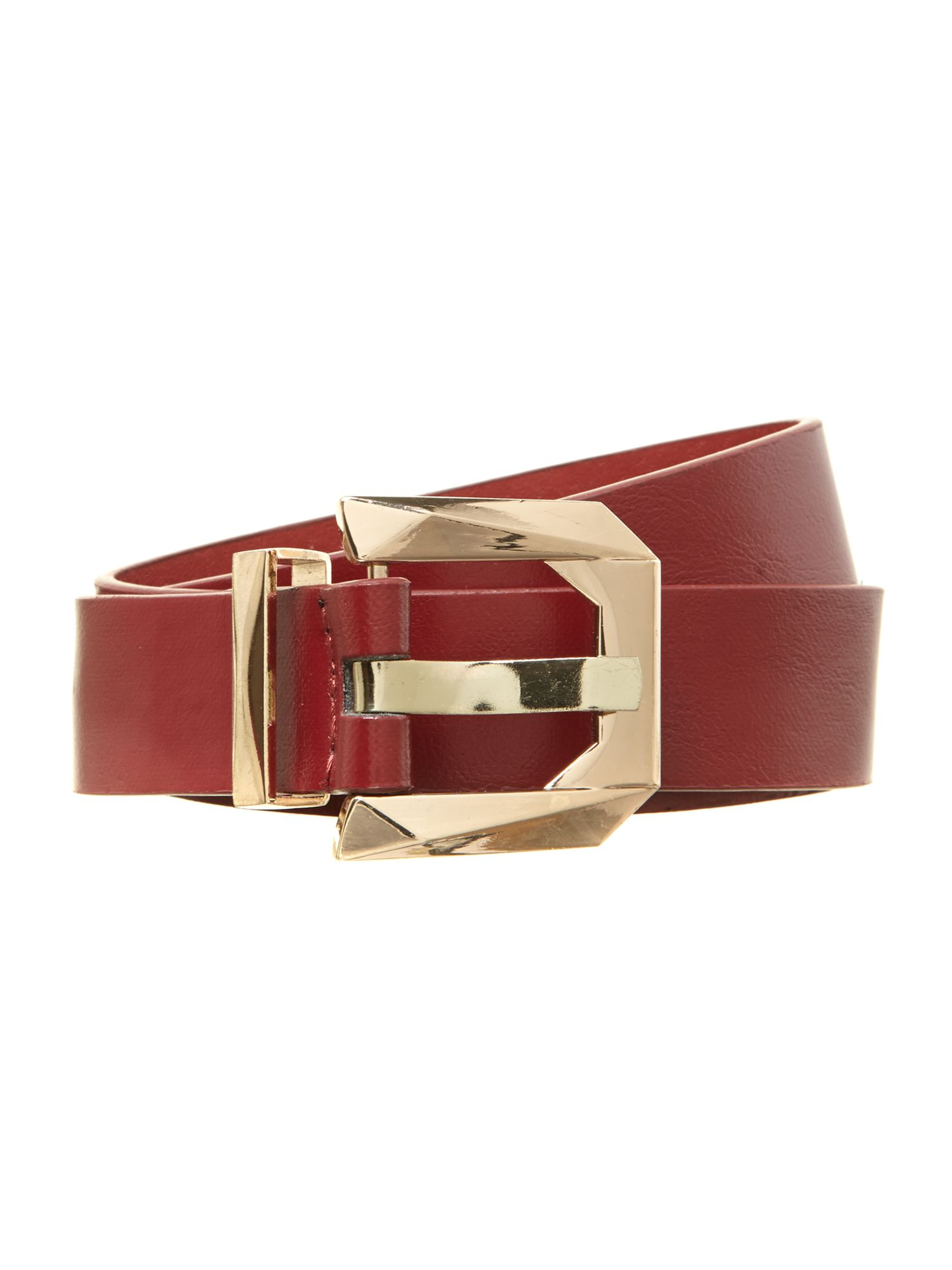 Shaped buckle belt