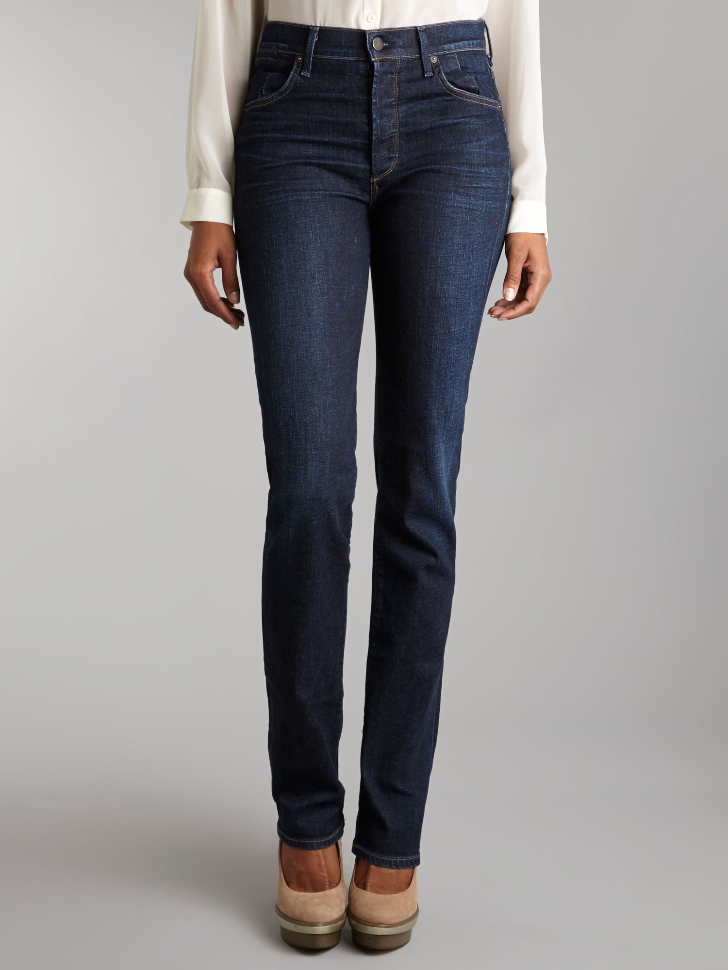 Arley high-rise straight leg jeans in Icon