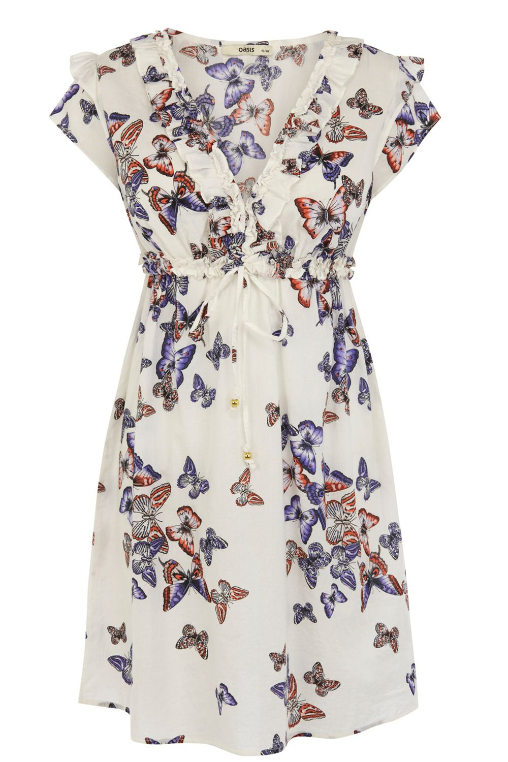 Butterfly rouched sundress