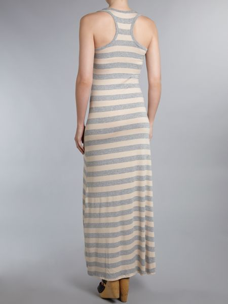 Wal-G Striped maxi dress