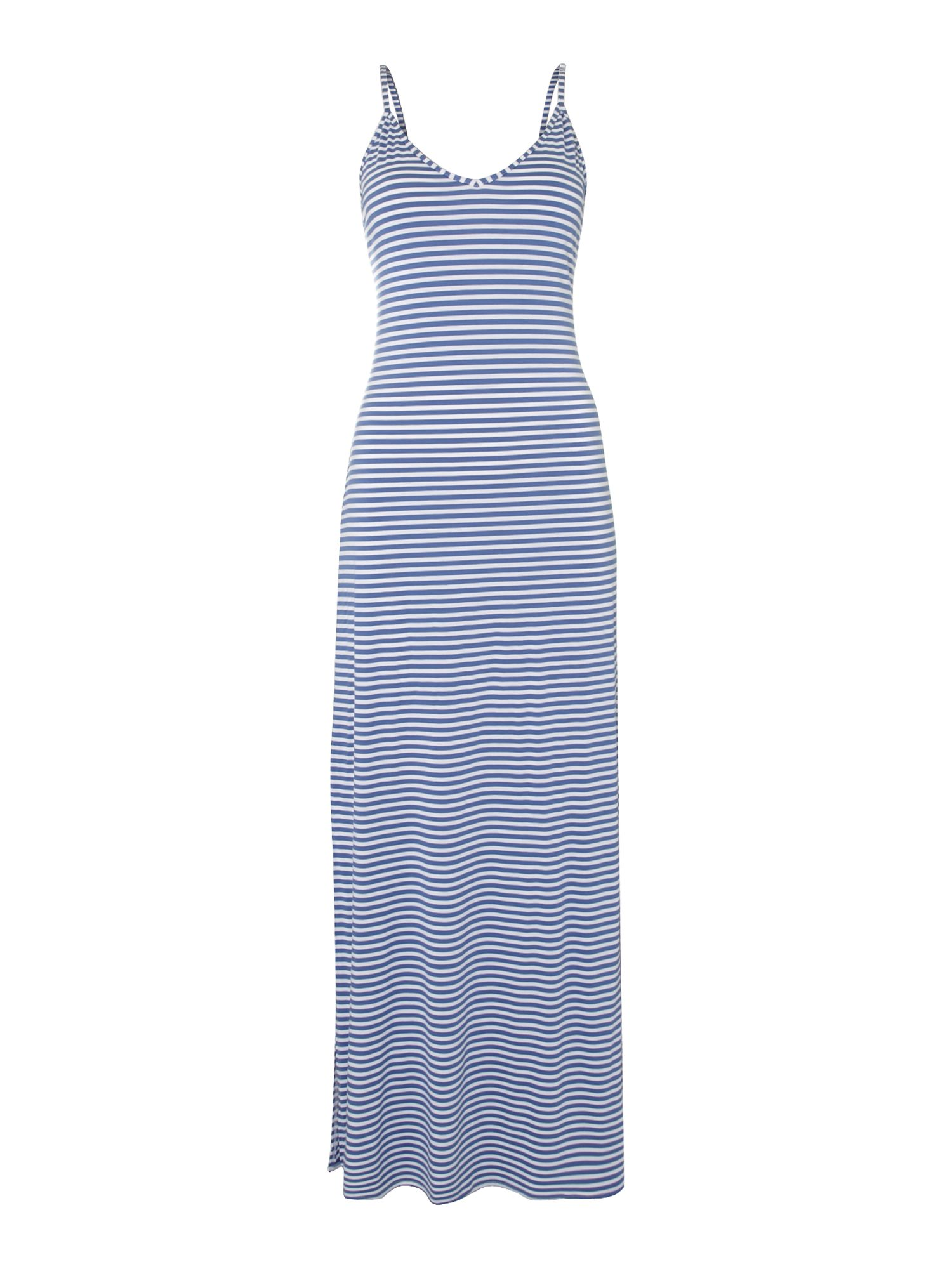 Stripe strappy maxi dress