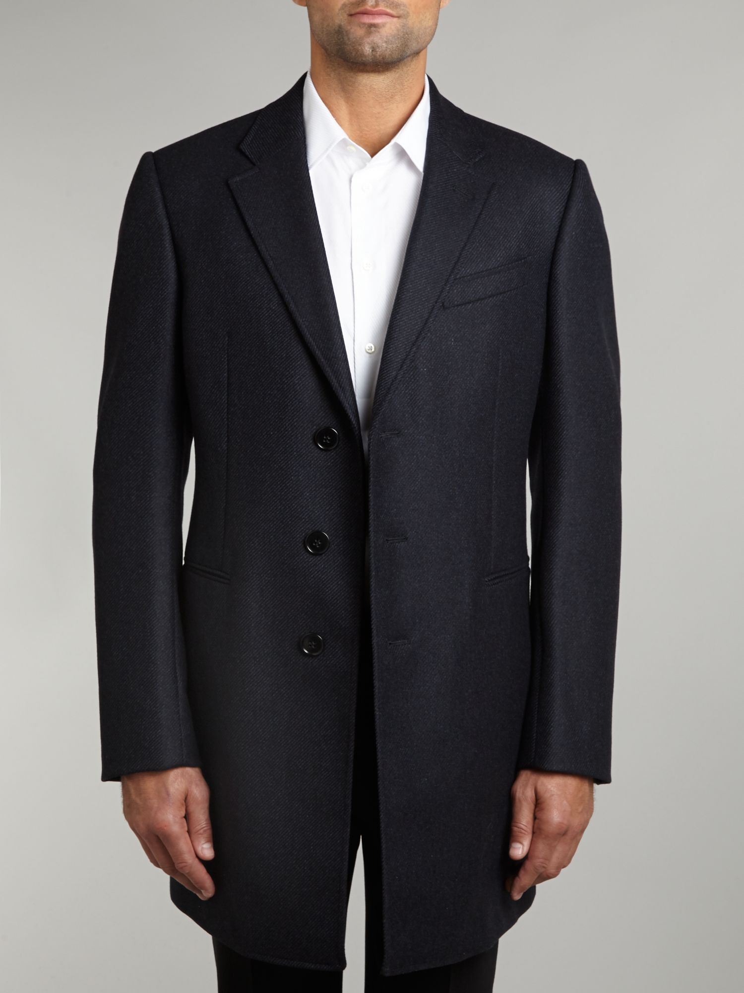 Classic cashmere slim fit coat