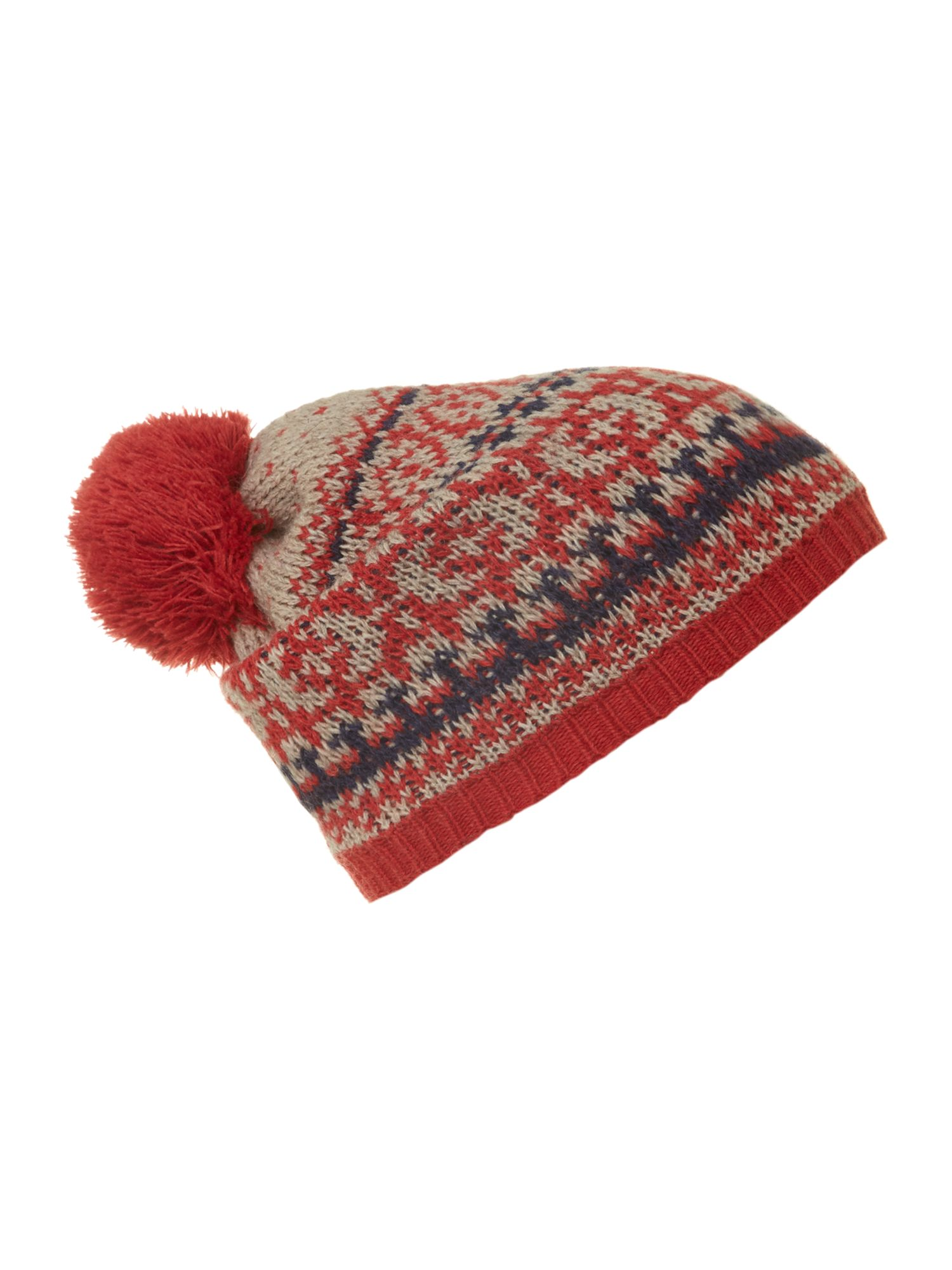 Fairisle bobble hat