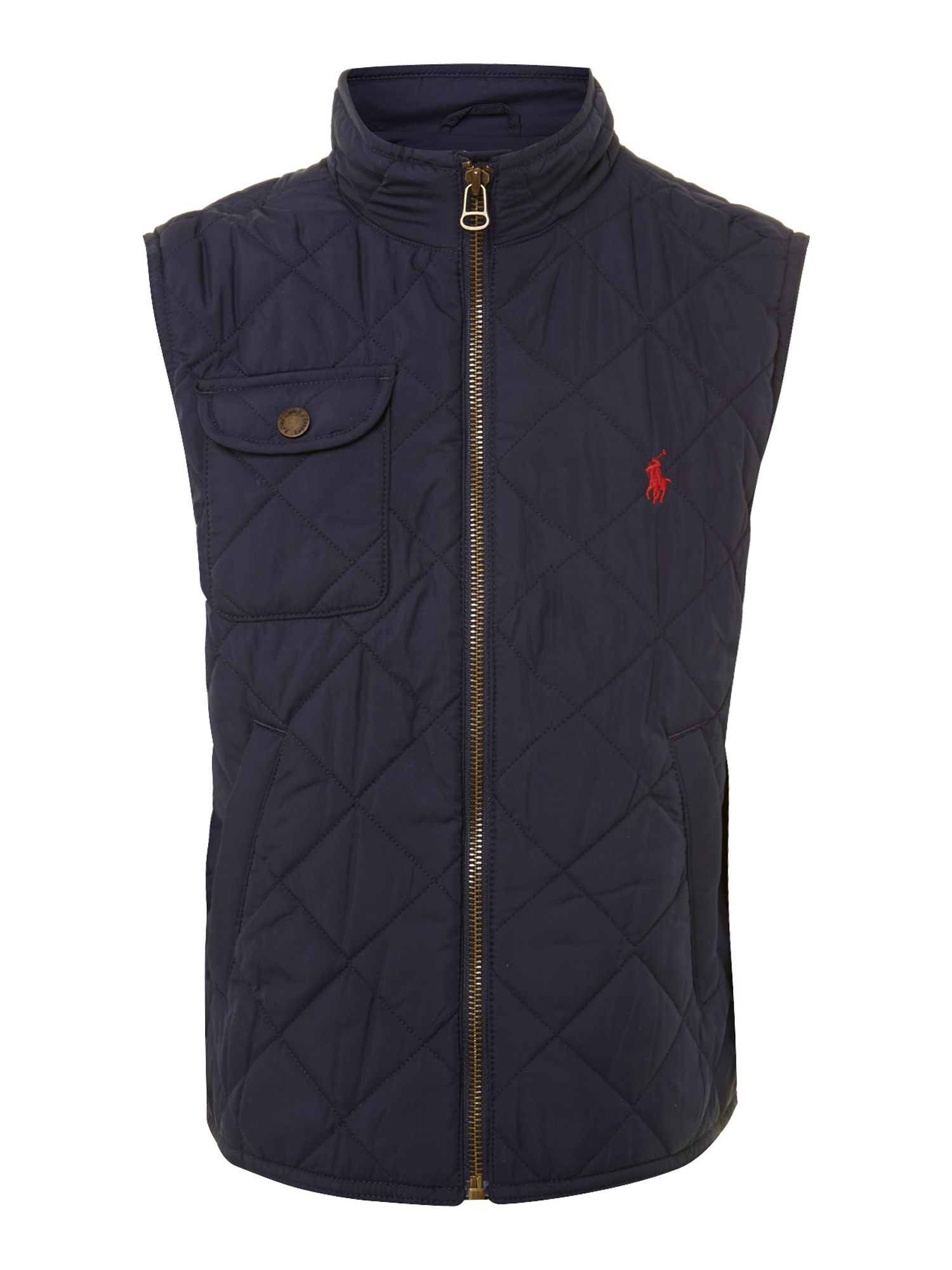 Boy`s barn quilted gilet
