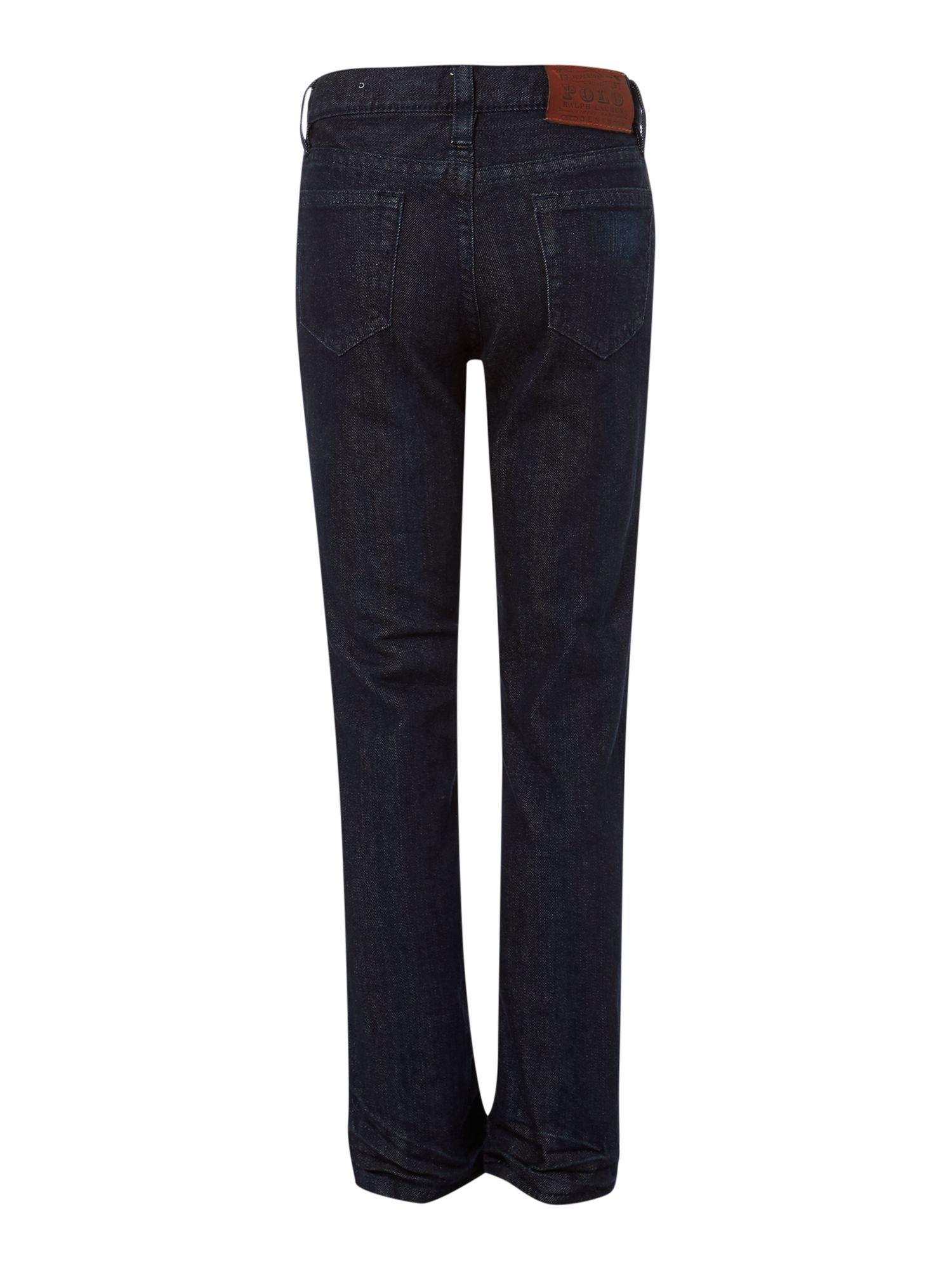 Boy`s dark wash straight-leg jeans