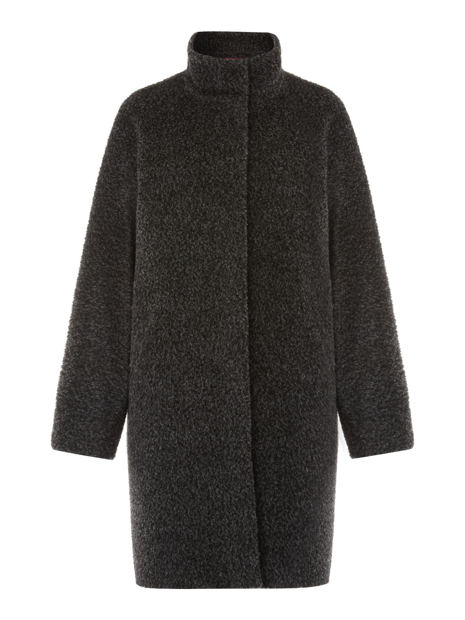MaxMara Studio Giubilo funnel neck coat, Dark Grey
