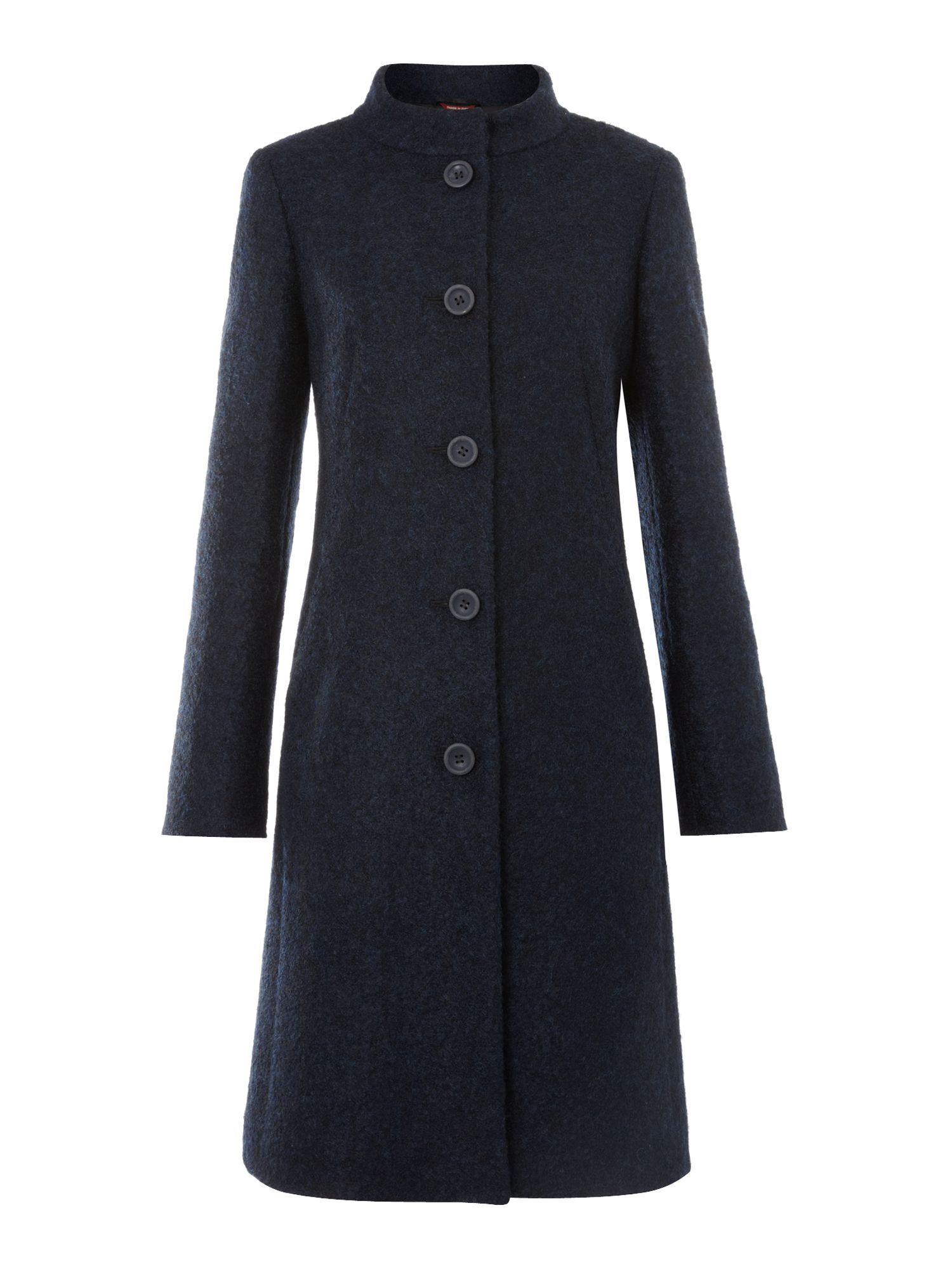 MaxMara Studio Gregory funnel neck car coat, Midnight Blue