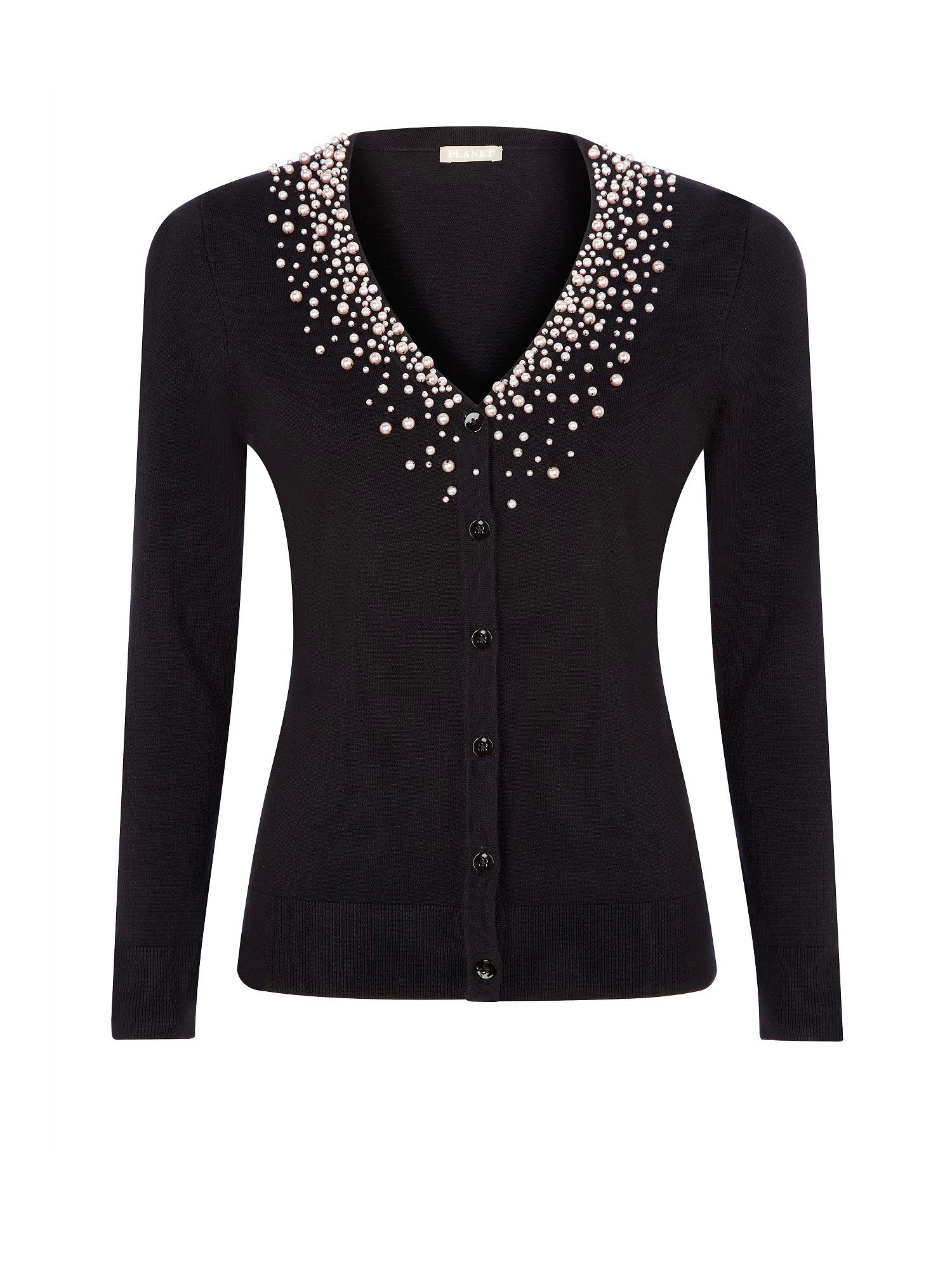 Black embellished cardigan