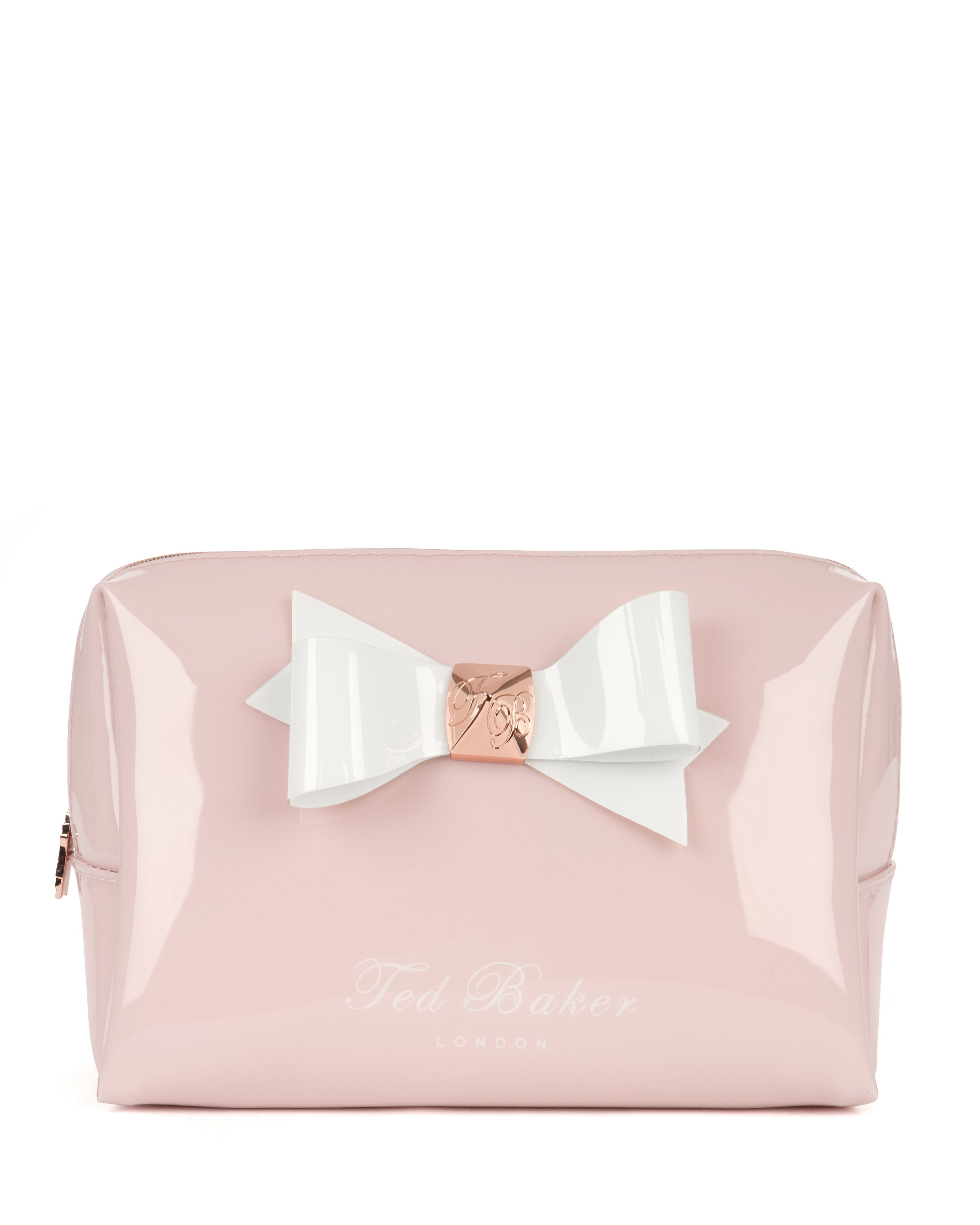 Leda wash bag with bow detail