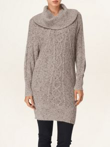 Coral cable batwing tunic