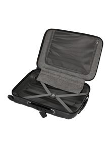 New cosmolite 4-wheel black cabin suitcase