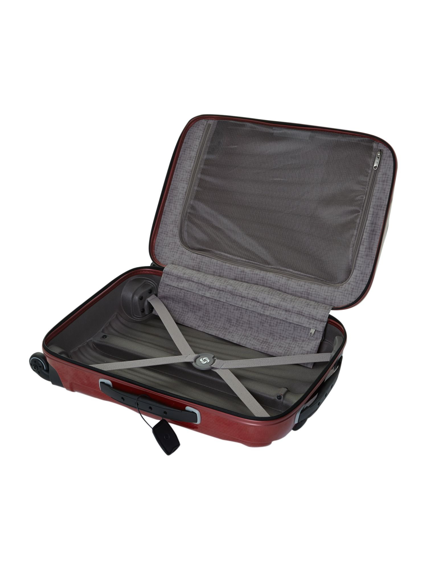 New cosmolite 4-wheel red cabin suitcase