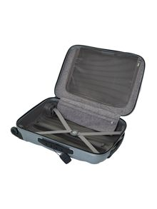 New cosmolite 4-wheel silver cabin suitcase