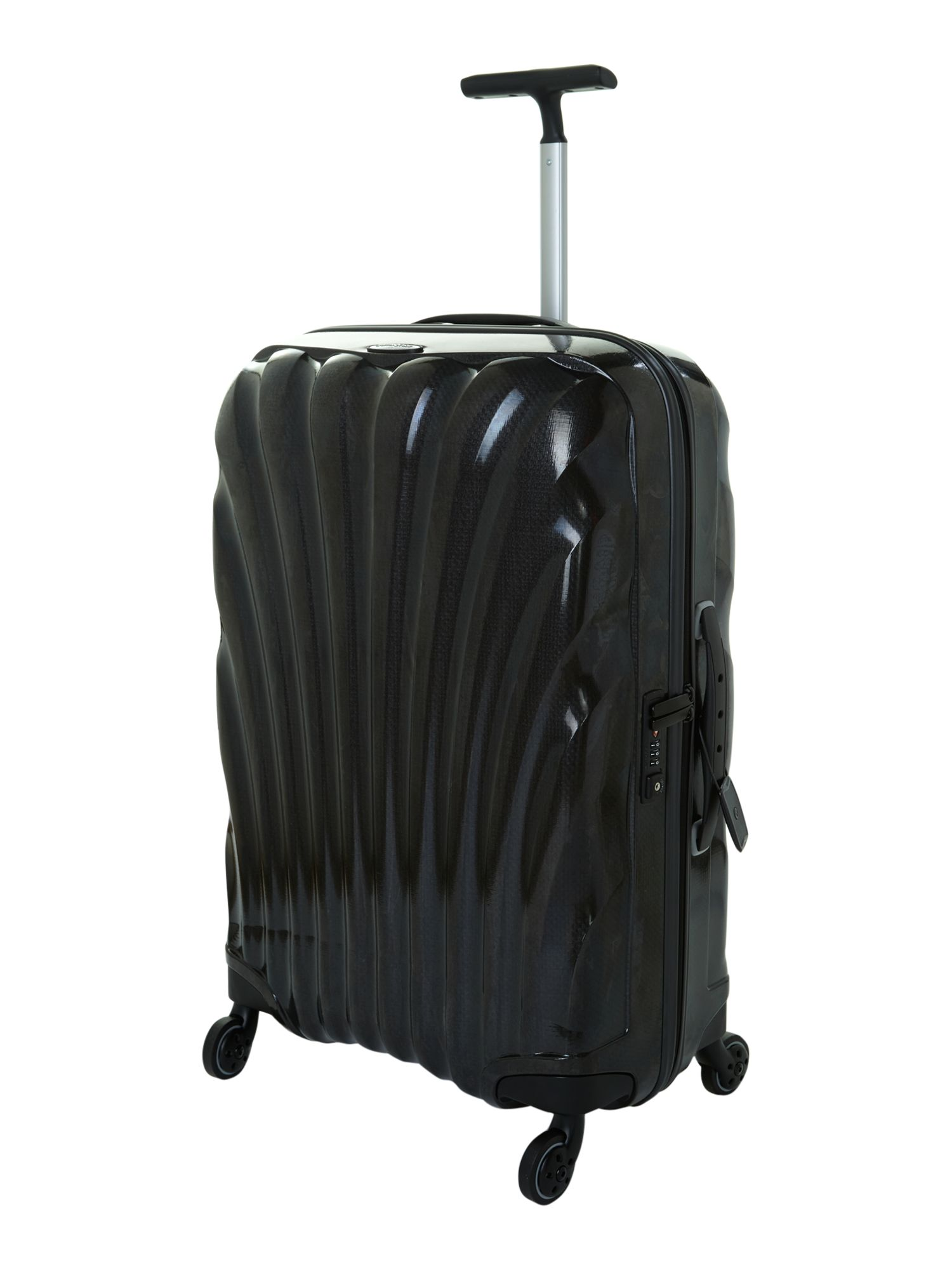 New cosmolite 4-wheel black medium suitcase
