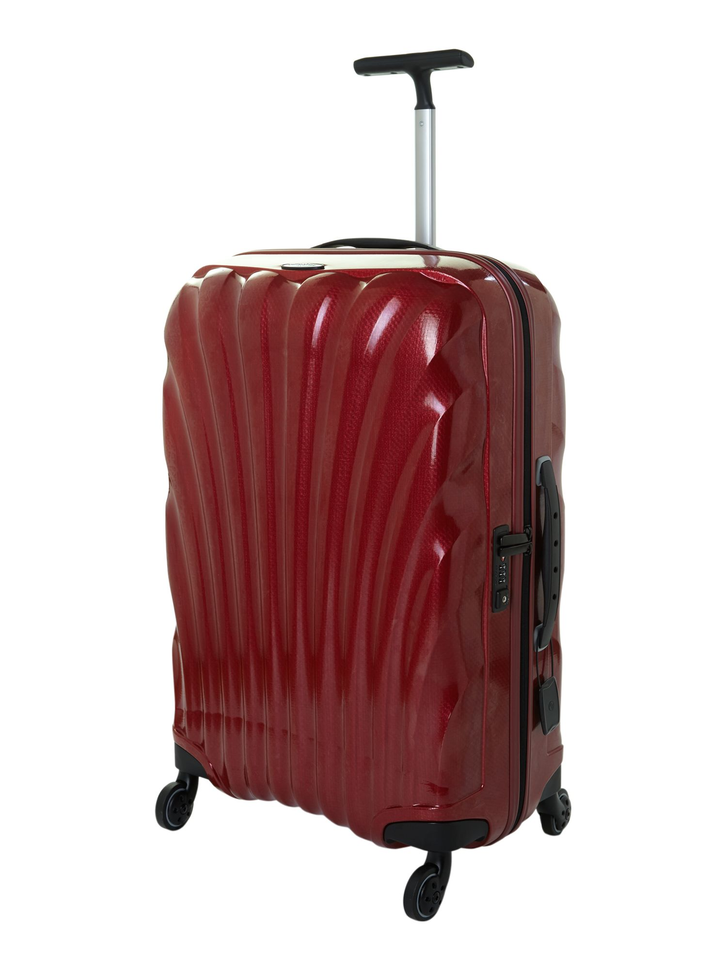 New cosmolite 4-wheel red medium suitcase