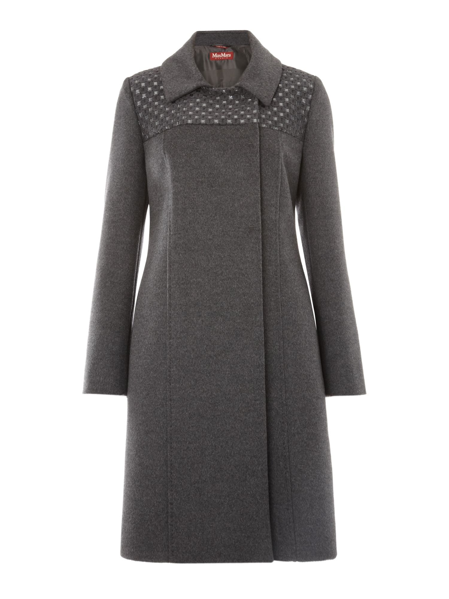 Miretta coat with print detail
