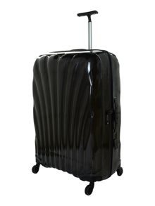 New cosmolite 4-wheel black large suitcase