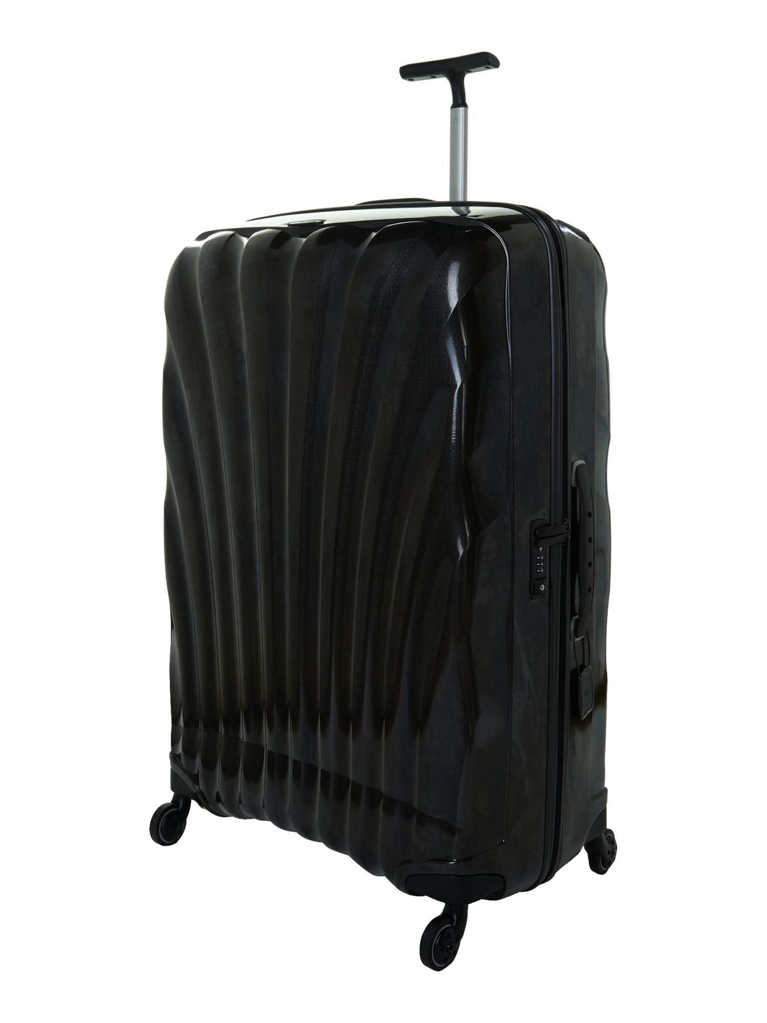 New cosmolite 4-wheel black extra large suitcase