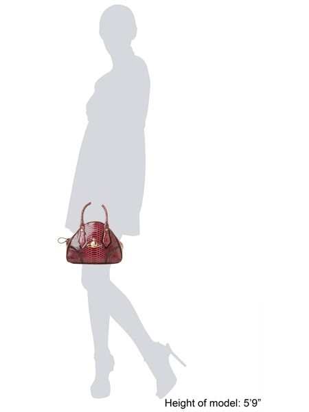 Vivienne Westwood Frilly snake small red dome bag