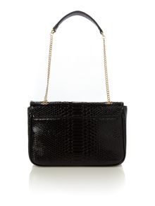 Frilly snake black shoulder bag