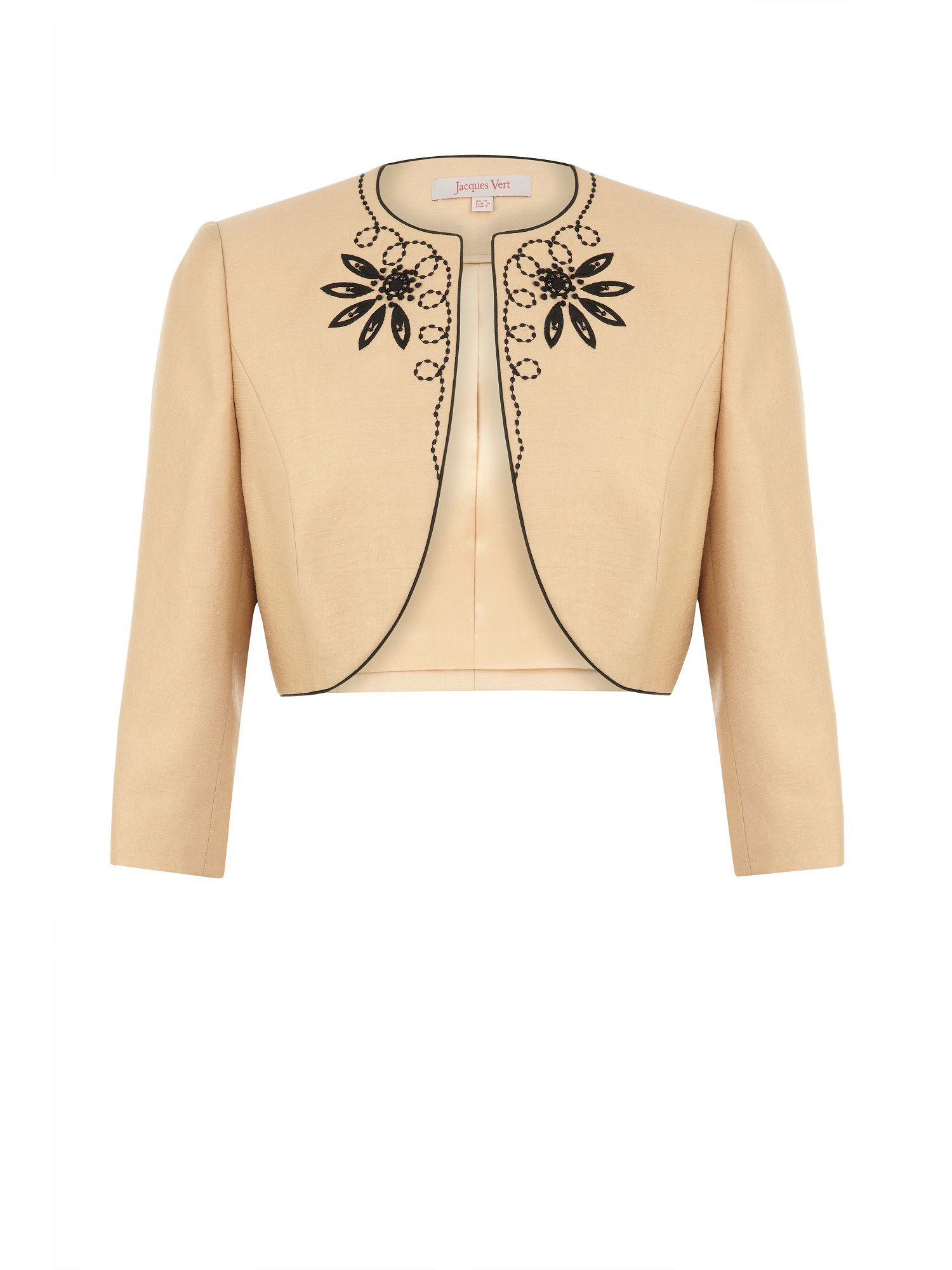 Caramel embroidered bolero