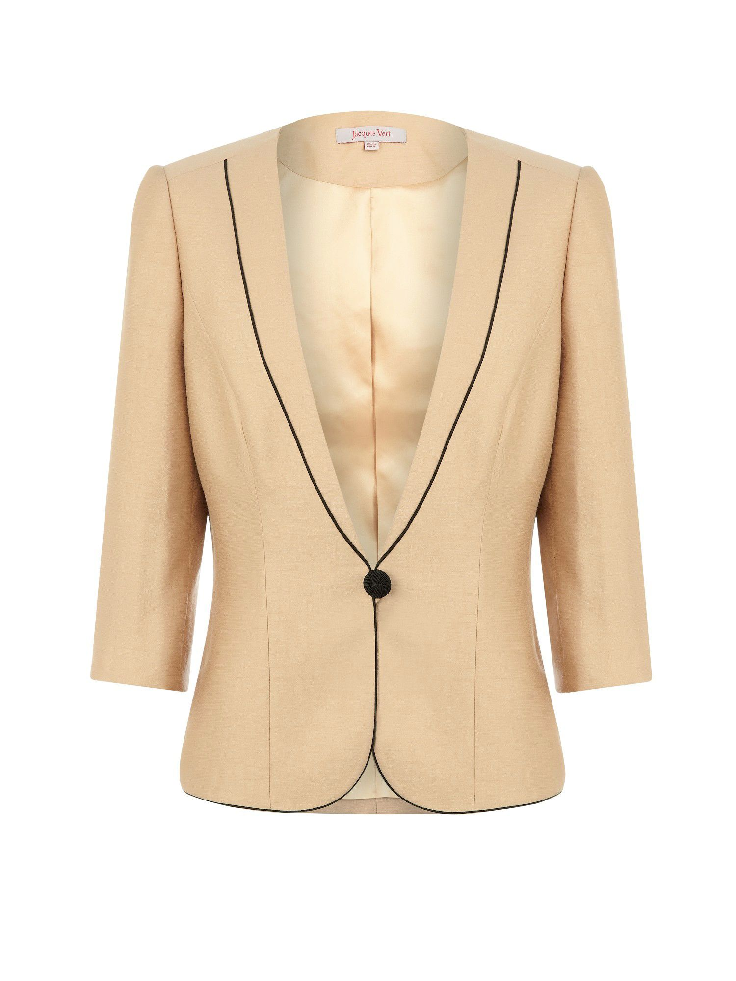 Caramel piped jacket