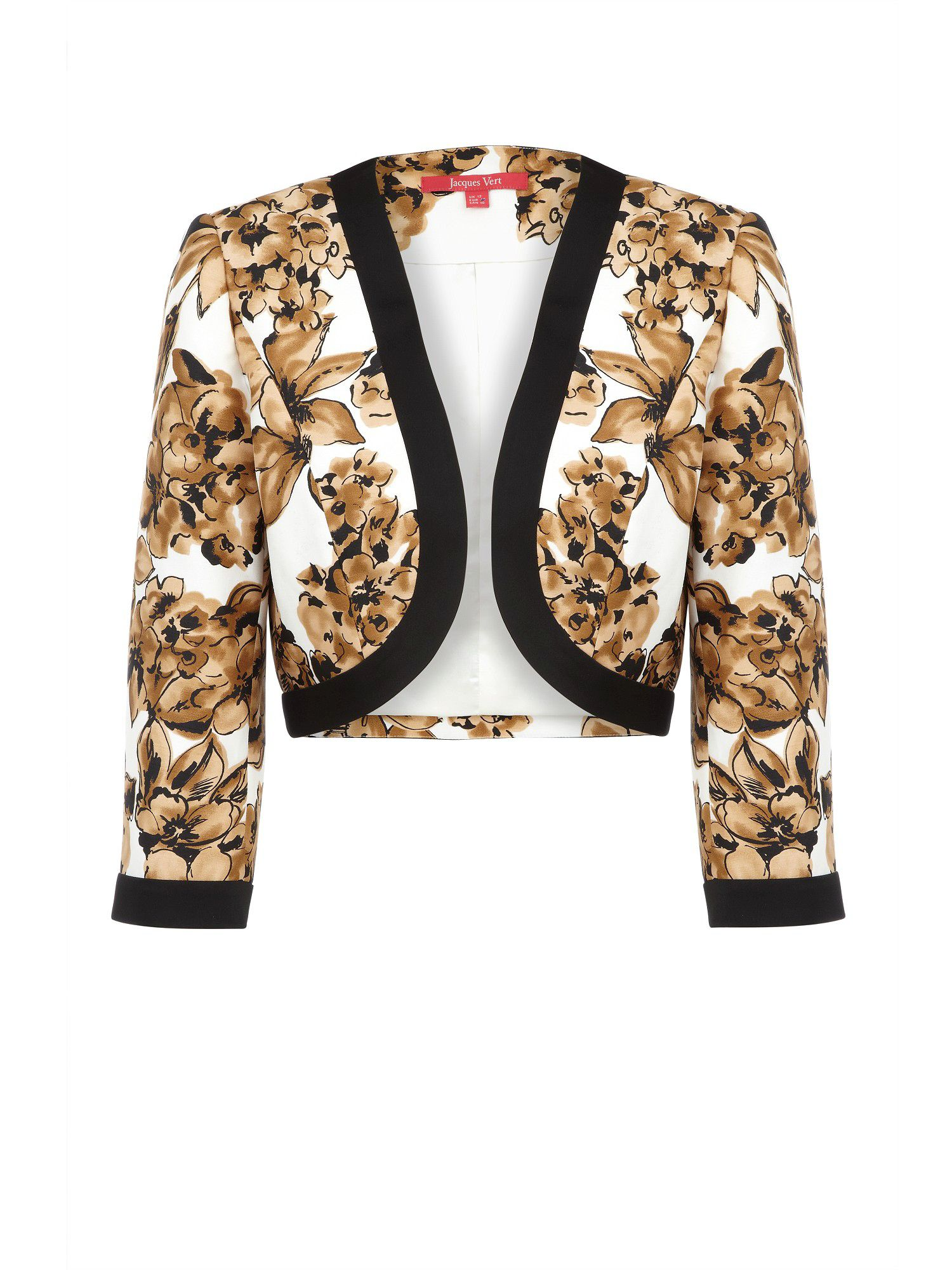 Statement floral print cropped jacket