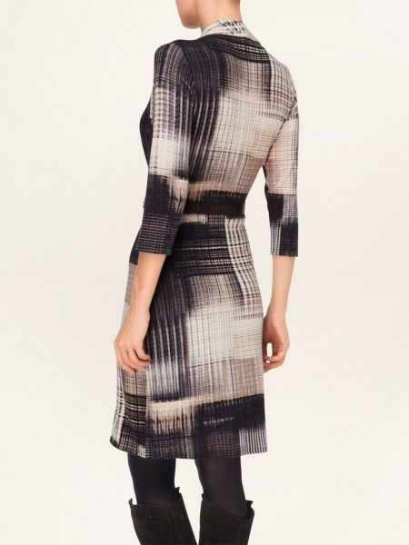 Phase Eight Borgen blurred belted check dress