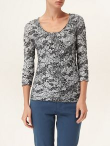 Peggy crushed print top