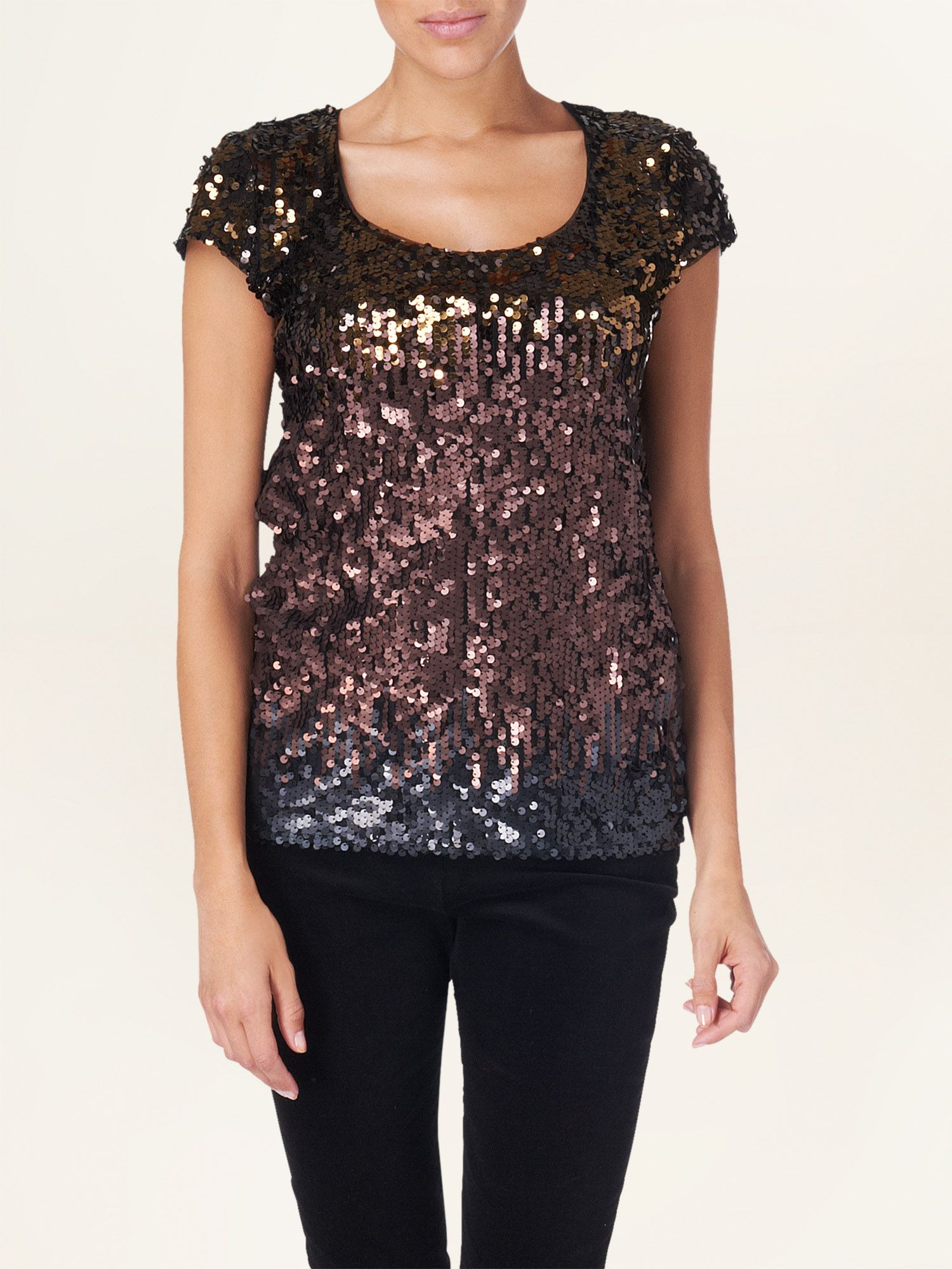 Judy sequin ombre top
