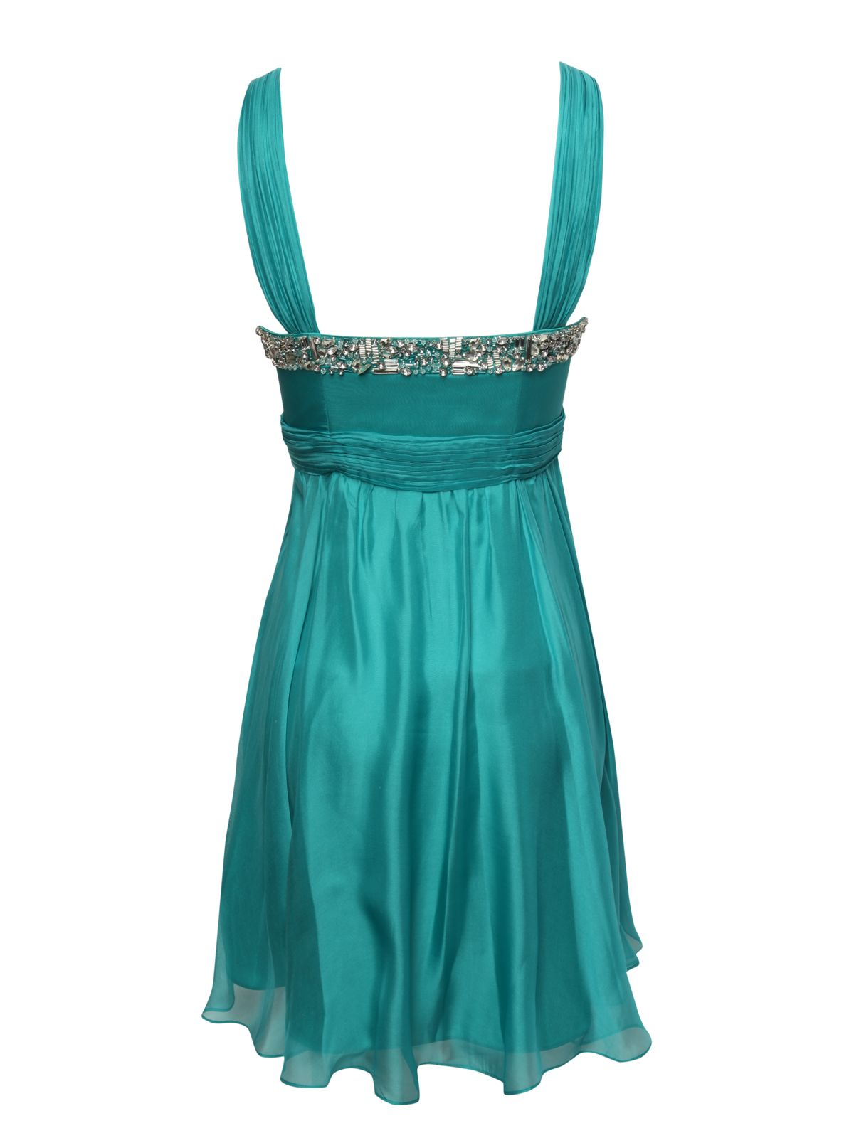 Silk embellished prom dress