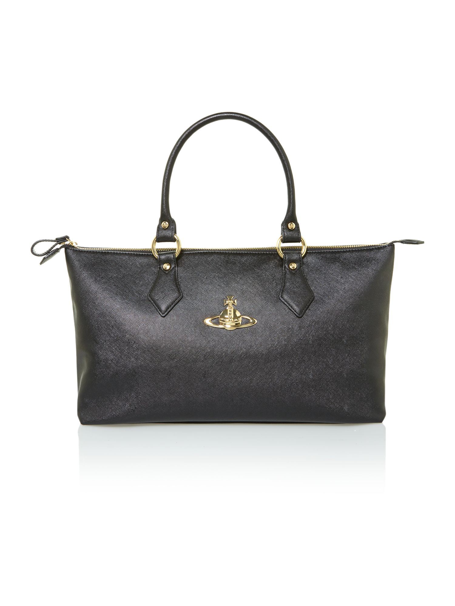 Bow medium black tote bag