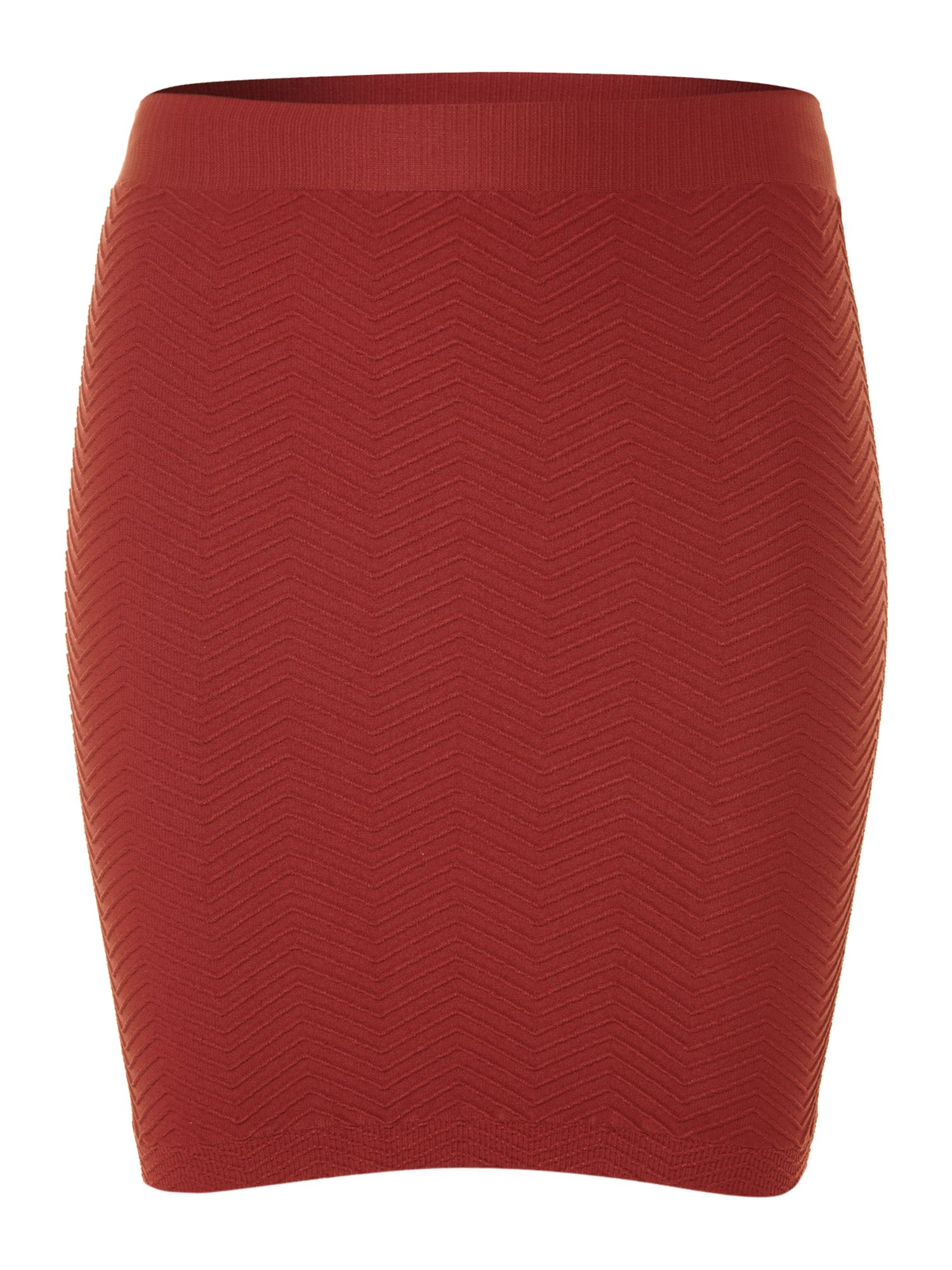 Woody structured mini skirt