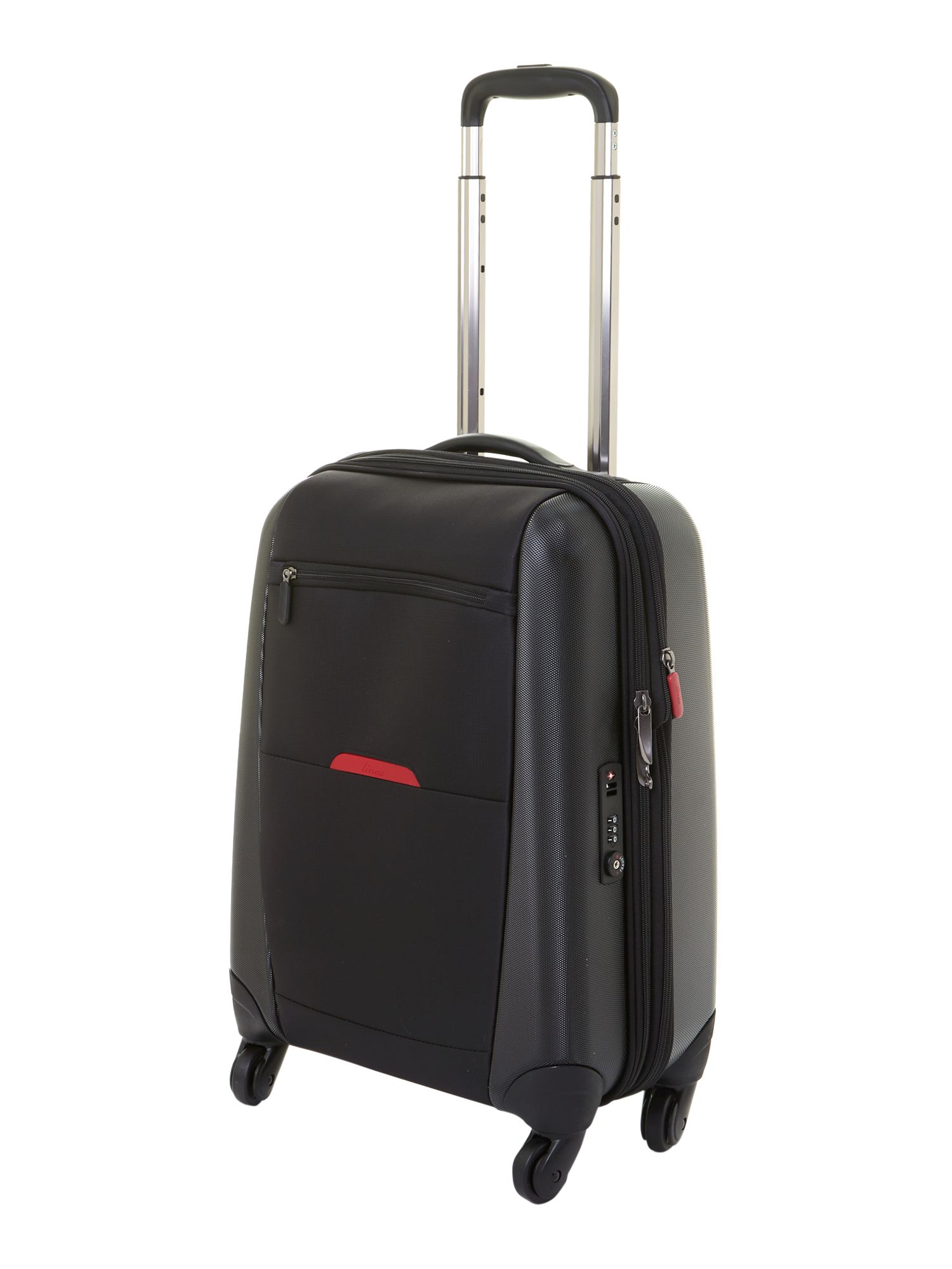 Hylite black 4-wheel cabin suitcase