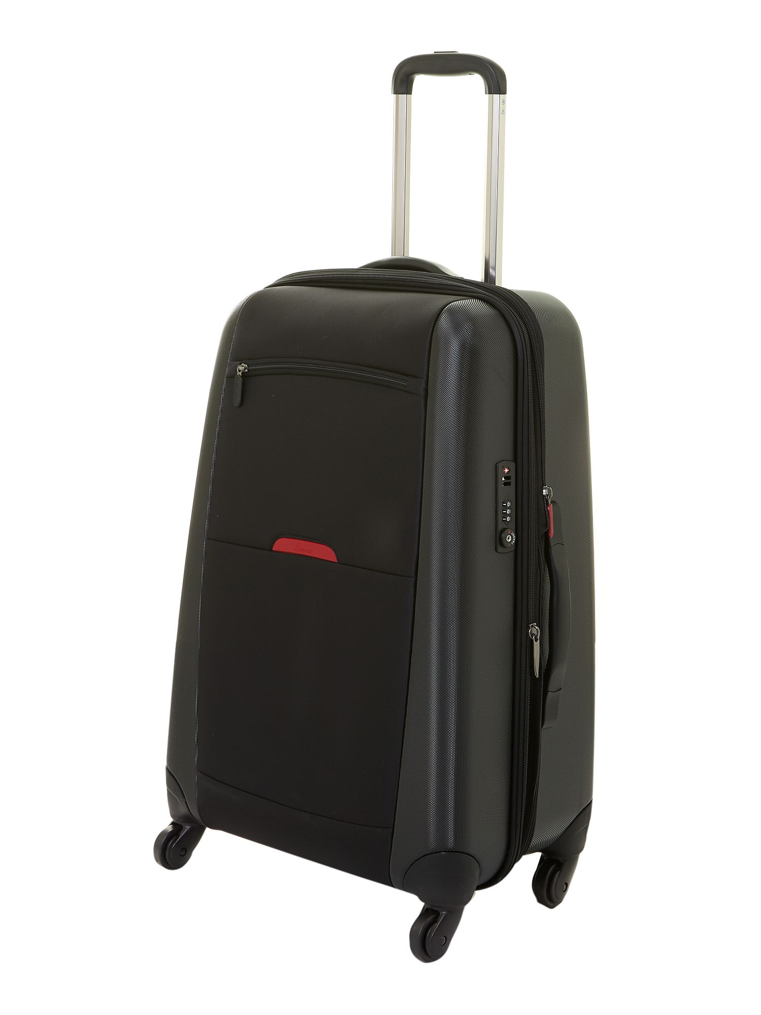 Hylite black 4-wheel medium suitcase