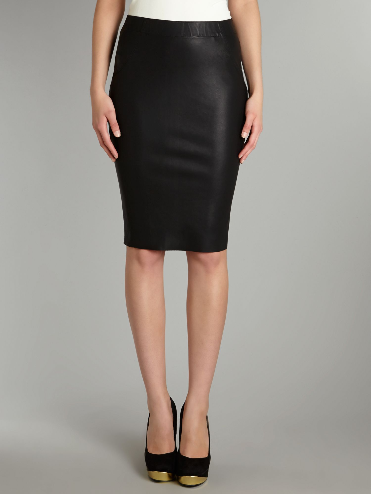 Judy PU pencil skirt