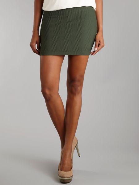 Vero Moda Woody structured mini skirt