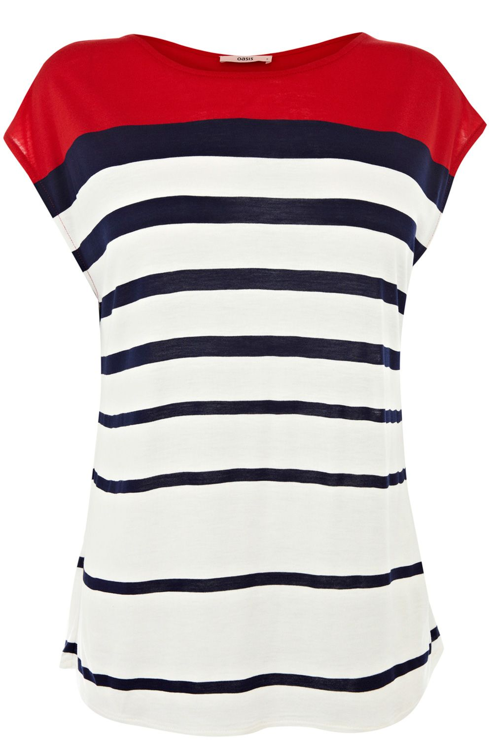 Graduated stripe tee