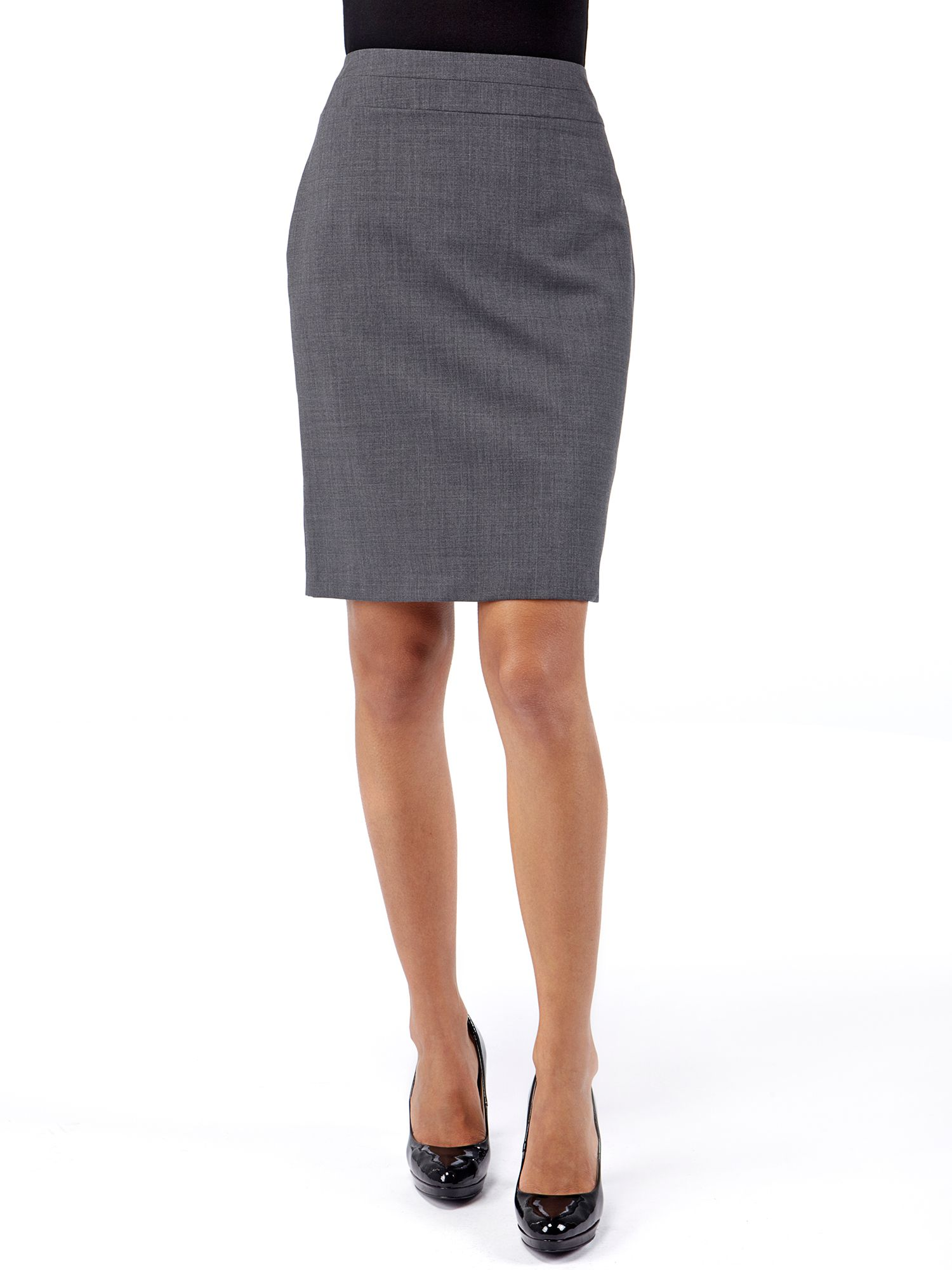 Wool rich suit skirt